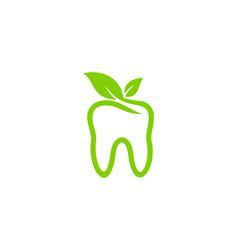 Nature dental logo icon design vector