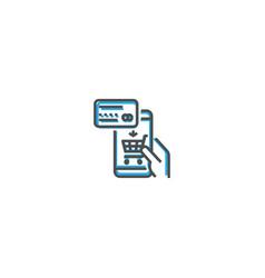 online shop icon design startup icon design vector image