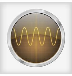 Oscilloscope vector image