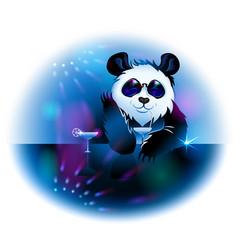 Panda in pub vector