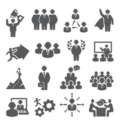 people icons set isons for teamwork vector image