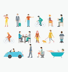 people in various lifestyles vector image