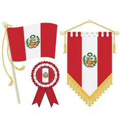 Peru flags vector