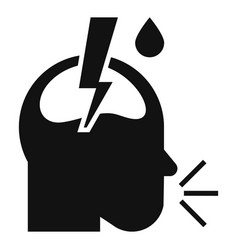 pneumonia headache icon simple style vector image