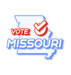 presidential vote in missouri usa 2020 state map vector image