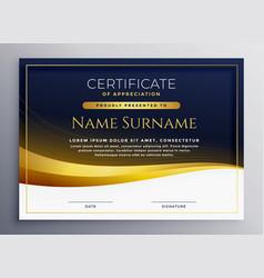 Professional certificate appreciation template vector