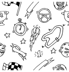 Racing icons pattern vector image