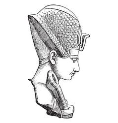 Ramses ii in profile vintage vector
