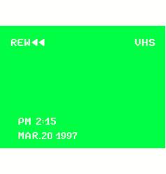 Rewind vhs screen a videotape player retro 80s vector