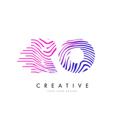 Ro r o zebra lines letter logo design with vector