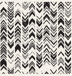 seamless hand drawn style chevron pattern in vector image