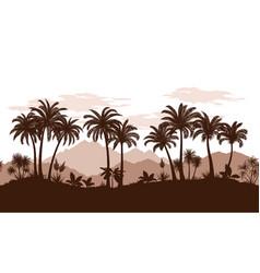 seamless landscape palms vector image