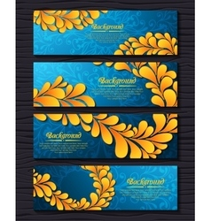 set elegant banners with golden royal ornament vector image