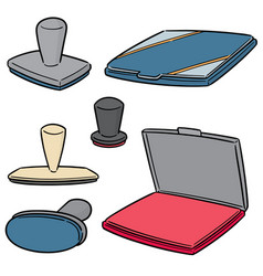Set of rubber stamp vector