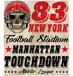 Skull in a helmet to play american football vector