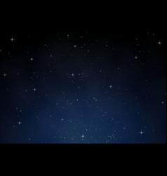 sky night dark blue background vector image