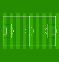 soccer field football pitch stadium with green vector image