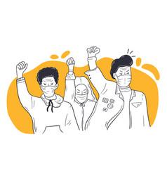 Social protest coronavirus blm activism concept vector