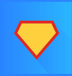 Superhero icon modern and flat logo figure vector