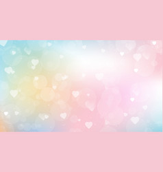 sweet candy gradient background with heart bokeh vector image