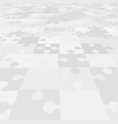 The perspective background of puzzle pieces jigsaw vector