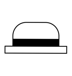 Traditional hat of gondolier vector