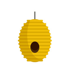 Tree bee house icon flat style vector