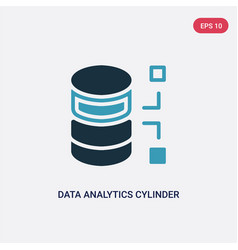 two color data analytics cylinder icon from user vector image
