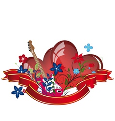 valentines day music background vector image