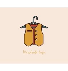 Waistcoat on a hanger vector