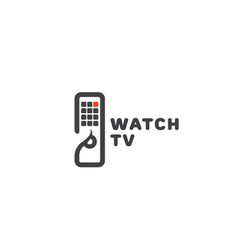 watch tv logo vector image