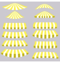 Yellow Tents vector image