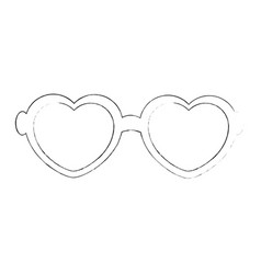 hippie fashion glasses vector image