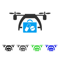 medical drone flat icon vector image vector image