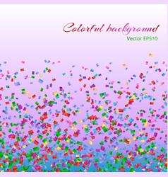 multicolored confetti particles vector image vector image