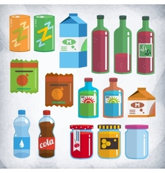 bottles and packing kit vector image