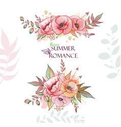flovers summer romance vector image