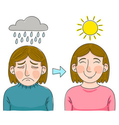 overcoming depression vector image
