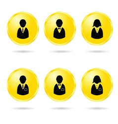 people icon in colorful vector image vector image