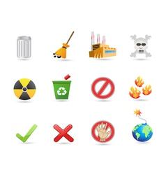 special icon for eco design vector image vector image
