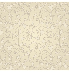 Vintage background with hearts ornament vector image vector image