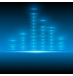 Abstract blue space equalizer vector image