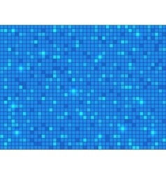 Blue pixel mosaic background vector image vector image
