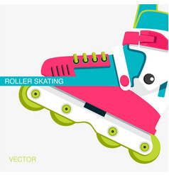 Cover or poster on the theme of roller-skating vector