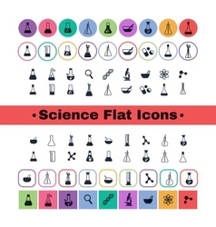 Flat icon science vector