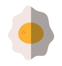 Fried egg nutrition breakfast design shadow vector