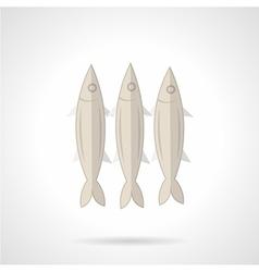 Three sardines flat icon vector image vector image