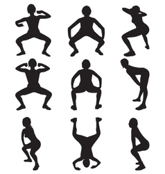 twerking silhouettes vector image