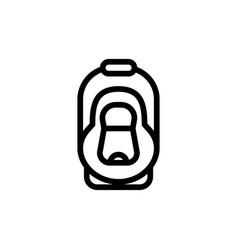 baby car seat thin line icon automobile cradle vector image