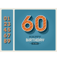 Birthday card editable vector image vector image